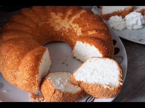 Ангельский бисквит на белках/Angel Food Cake In Grams