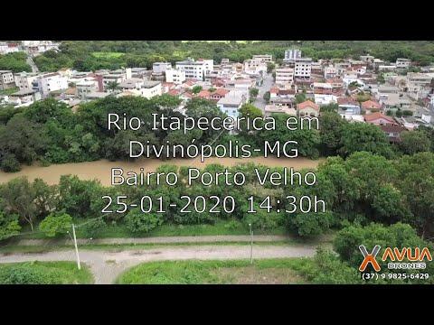 Vídeo do Rio Itapecerica - Divinópolis-MG - 25/01/2020 às 14:30