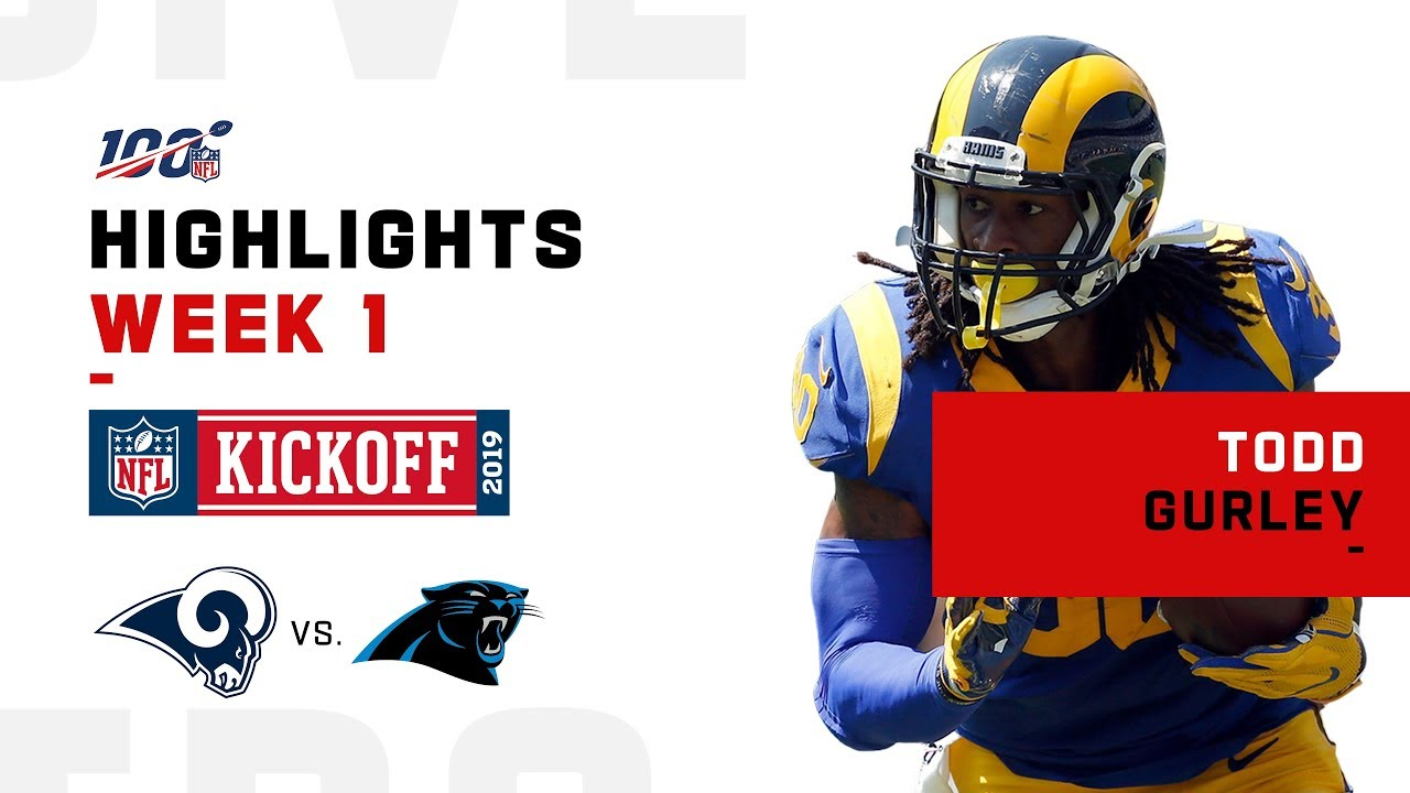Todd Gurley Highlights Vs Panthers Nfl 2019 Youtube
