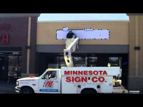 MN Sign LED Channel Letter Install