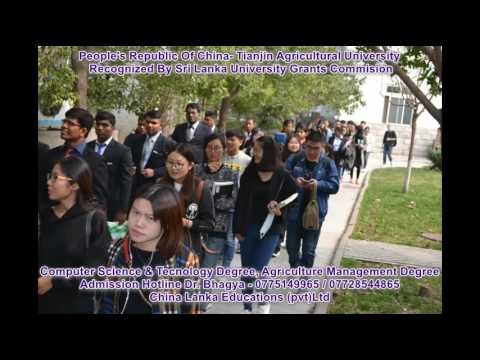 Tianjin Agricultural University In China (Srilankan students)
