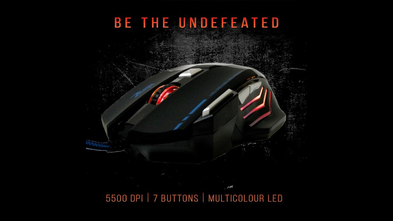How To Change The Zelotes 5500 DPI Gaming Mouse Colors From Cycling ...
