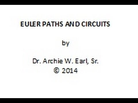 Euler Paths and Circuits and Fleury's Algorithm