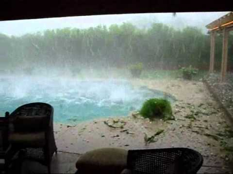 Hailstorm in Johannesburg, South Africa