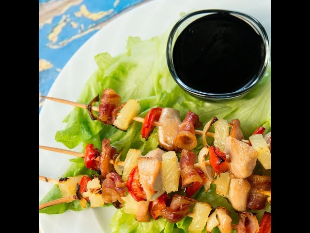 Chicken and Bacon Skewers