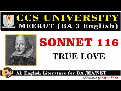 True love, Shakespeare] sonnet 116 explain in Hindi and English