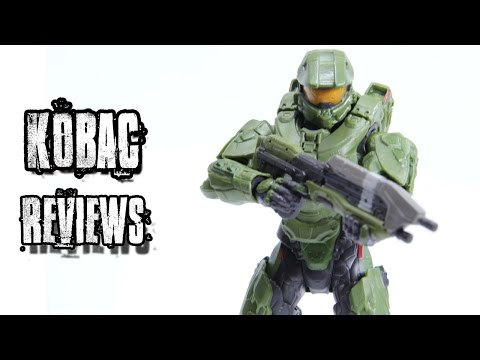 """Halo Series 1 Master Chief - Mattel 6""""   Action Figure Review"""