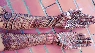 Full Hand Step by Step Bridal(Dulhan, Wedding) Mehndi Design for Both Hands   Shimmi