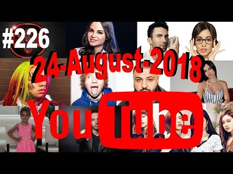 Today S Most Viewed Music Videos On Youtube 24 August 2018 226 Youtube