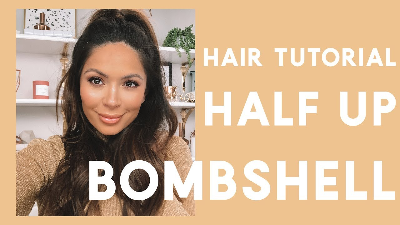 Easy Half Up Ponytail Hair Tutorial Youtube