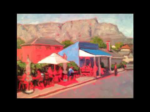 "Willie Steyn painting demo: ""Blue Cafe"""