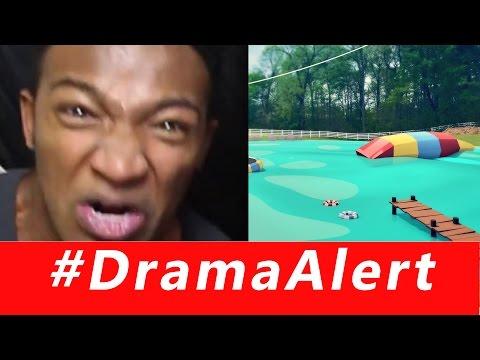 SWATTED on TWITCH #DramaAlert Roman Atwood WATERPARK in BACKYARD & Ice Poseidon BANNED