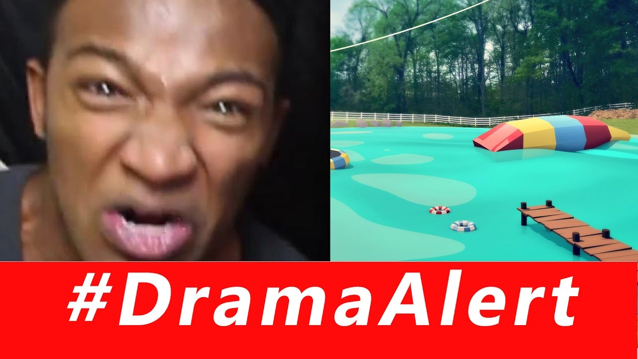 swatted on twitch dramaalert roman atwood waterpark in backyard