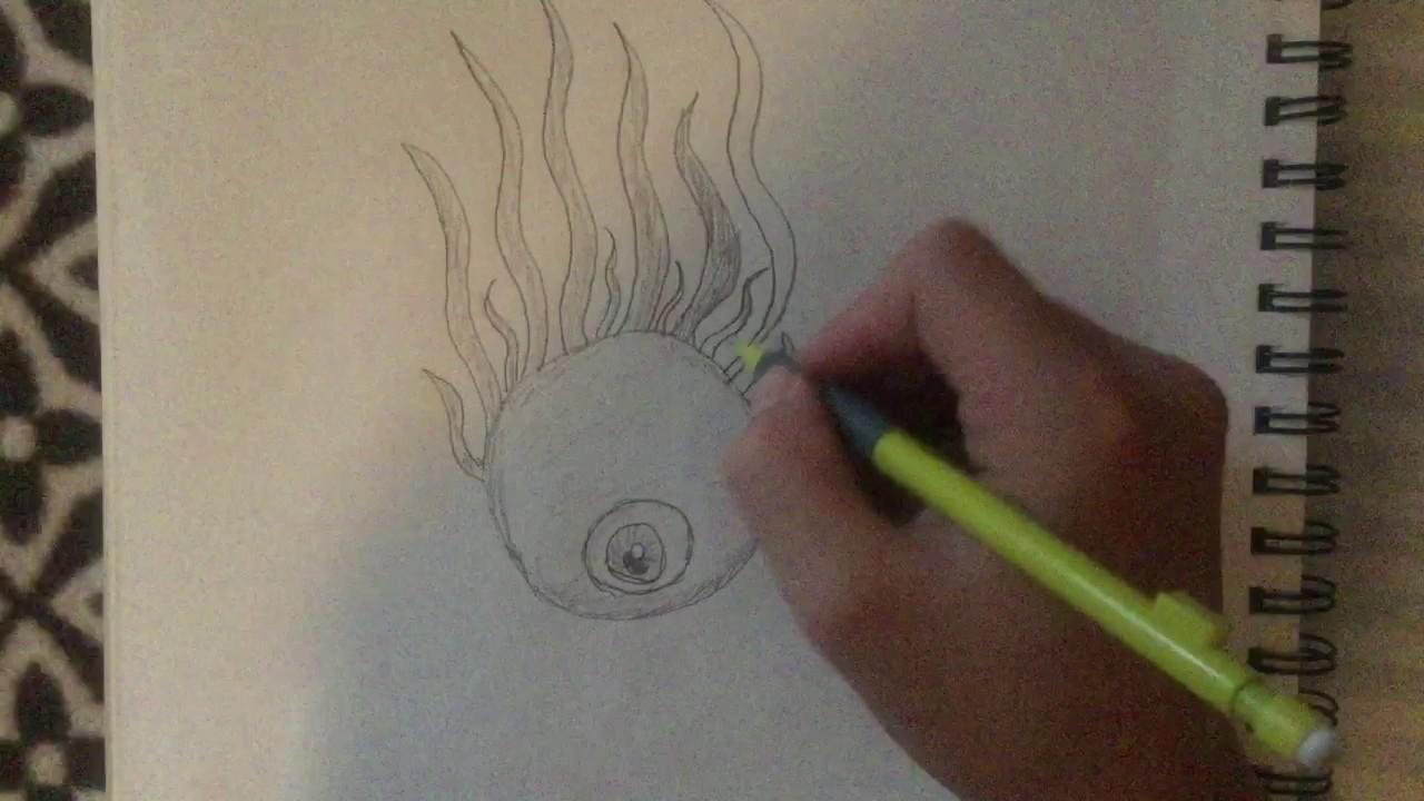 Cool Easy Drawings Eye Ball Youtube