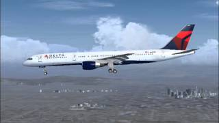 Delta Flight 2116 declares Emergency (FS2004)