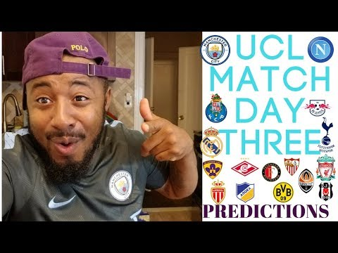 2017/18 UEFA CHAMPIONS LEAGUE MATCH DAY THREE PREDICTIONS | GROUPS E, F, G, H