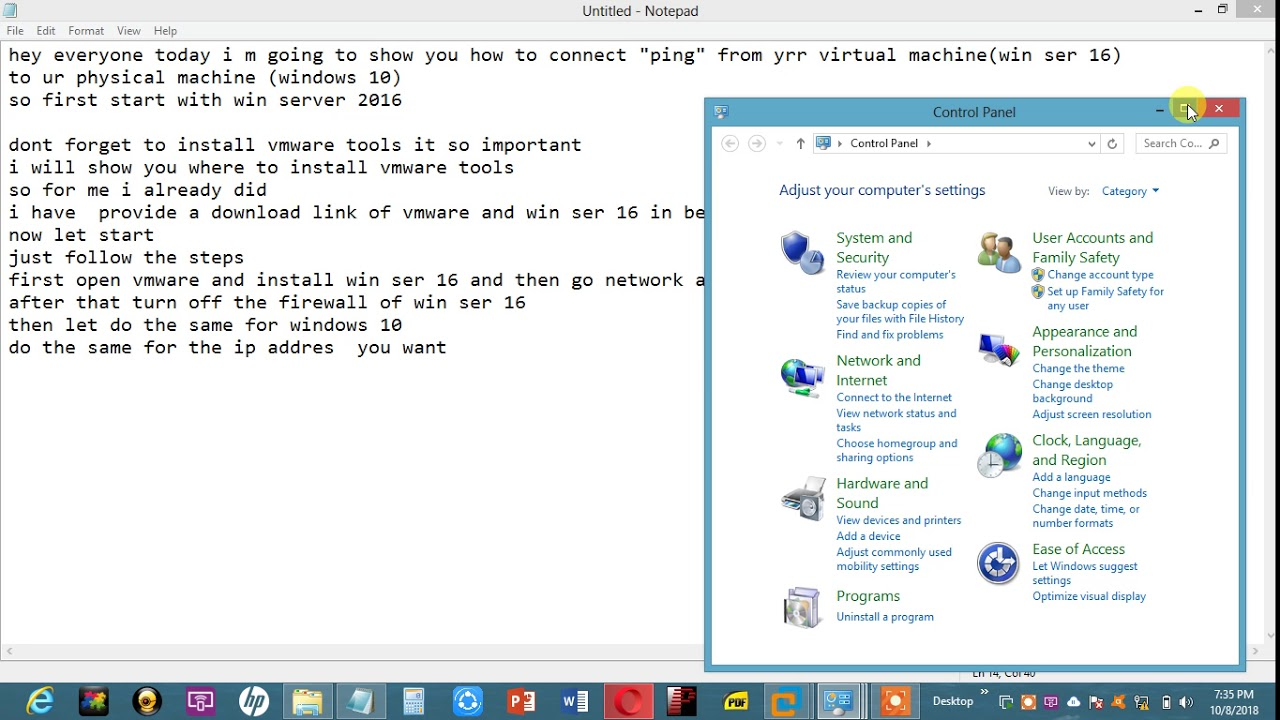 Connect (ping) betwen Vmware (virtual host)And Physical ... Vmware Ping Vm From Host