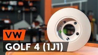 Kā mainīties priekšā un aizmugurē Bremžu diski VW GOLF: video pamācības