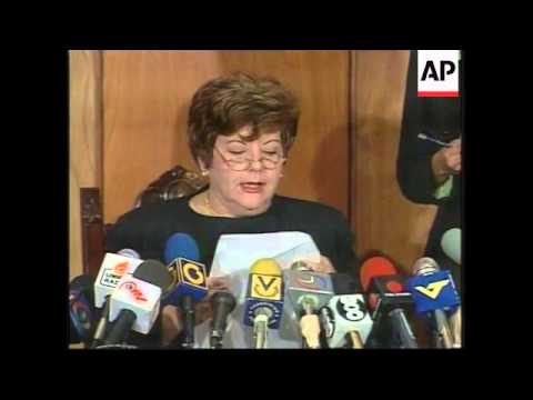 VENEZUELA:  PRESIDENT OF SUPREME COURT RESIGNS