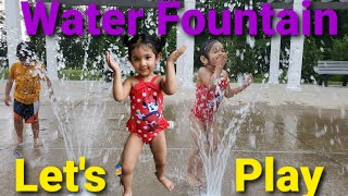 Enjoying Water Fountain | Playing at water park| Water Fountain Fun | Water park  splash pad screenshot 5