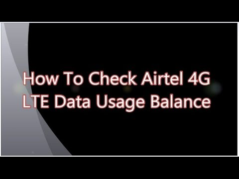 how do i check data usage on iphone how to check airtel 4g lte data usage balance 20669