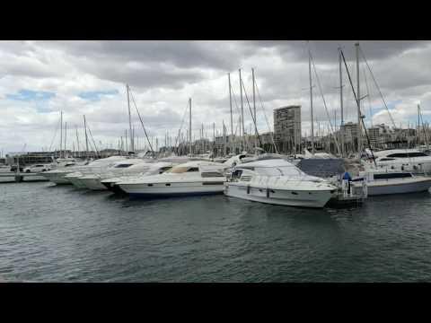 Volvo Ocean Race Pier around Alicante port and harbour