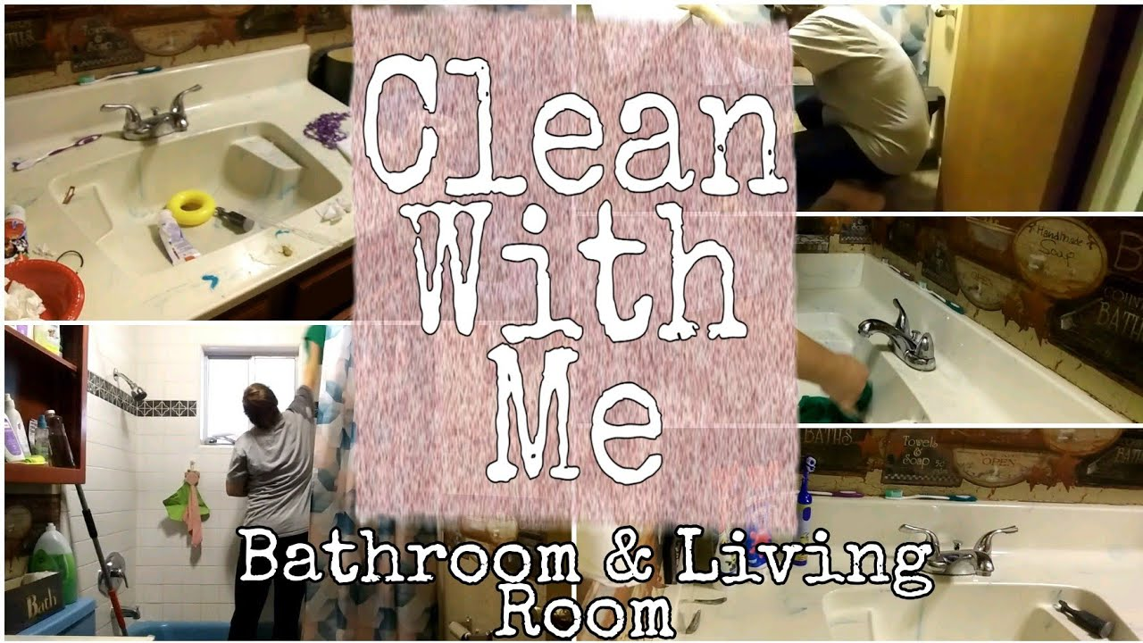 Extreme Clean With Me || Messy Bathroom & Living Room || Disaster || 2020