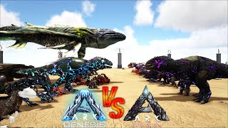 ARK Genesis VS ARK Extinction || Ark Battle
