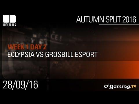 Eclypsia vs Grosbill Esport - Underdogs Autumn Split 2016 W1D2