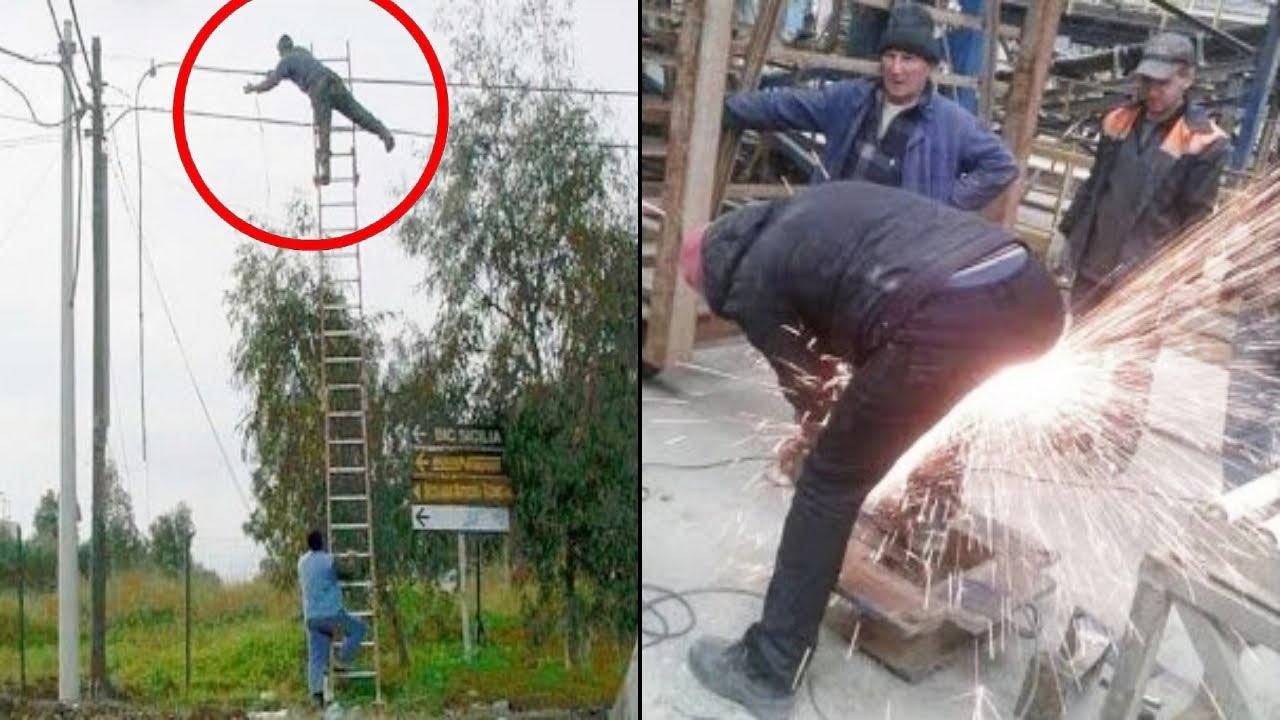 Это Нужно Увидеть! Тупейшие Ошибки Работников Снятые на Камеру