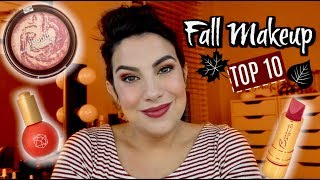 TOP 10 Makeup Products for Fall! Collab with Heather Austin