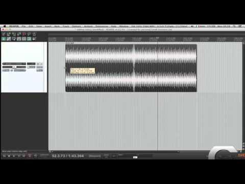 Editing veloce Reaper