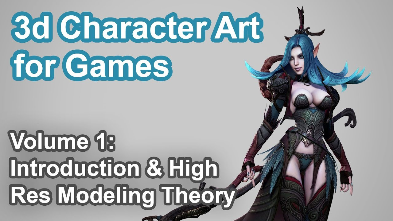 The Art Of Character Design Volume I : D character art for games vol p youtube