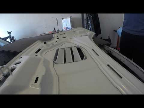 ACS Composite Hood extractor install for Fiat 500 Abarth