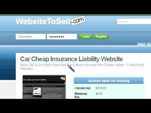 Preview Car Cheap Insurance Liability Website For Sale