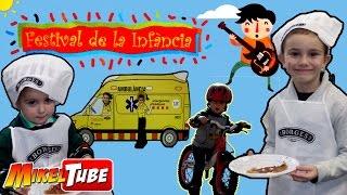 Un dia en el festival de la infancia 2015 - 2016 de barcelona con mikel en español