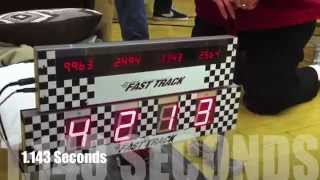 This Video Previously Contained A Copyrighted Audio Track. Due To A Claim By A Copyright Holder, The Audio Track Has Been Muted.     1.14 Second Pinewood Derby Car!!! (fastest Ever?)
