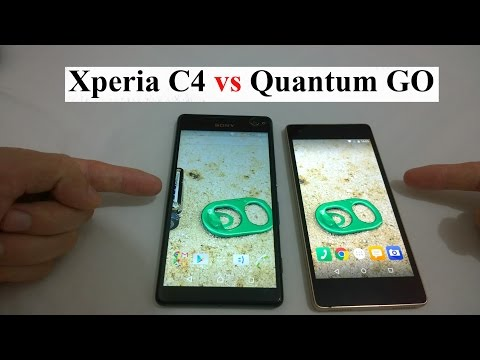 Smartphone Sony Xperia C4 vs Quantum GO