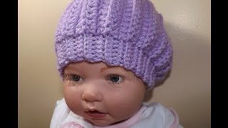 Repeat youtube video Crochet baby hat - with Ruby Stedman