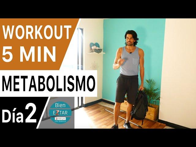 3 EJERCICIOS - ACELERA TU METABOLISMO | Quemar grasa  y perder peso | Día 2
