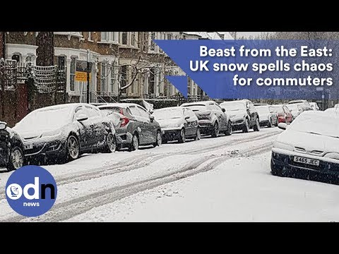 Beast from the East: UK snow spells chaos for commuters