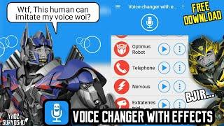 Download Mp3 Aplikasi Pengubah Suara Lucu, Keren, Dan Berfaedah Android | Bisa Untuk Efek Sua