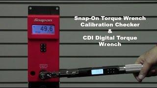 CDI Digital Computorq SG & Snap-On Torque Wrench Calibration Checker  | Robb Precision Tool Services
