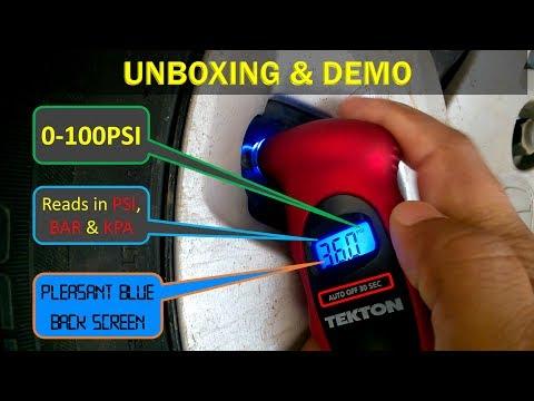 Tekton 5941 Digital 100 PSI Tire Gauge Unpacking   Testing