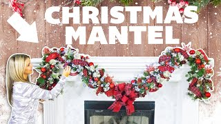 Christmas Mantel Decorating Ideas 🔴 Buffalo Check Christmas Decor