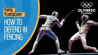 How To Parry/Defend in Fencing | Olympians