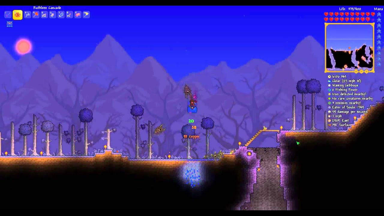 Terraria - Using mount to light up nearby tiles