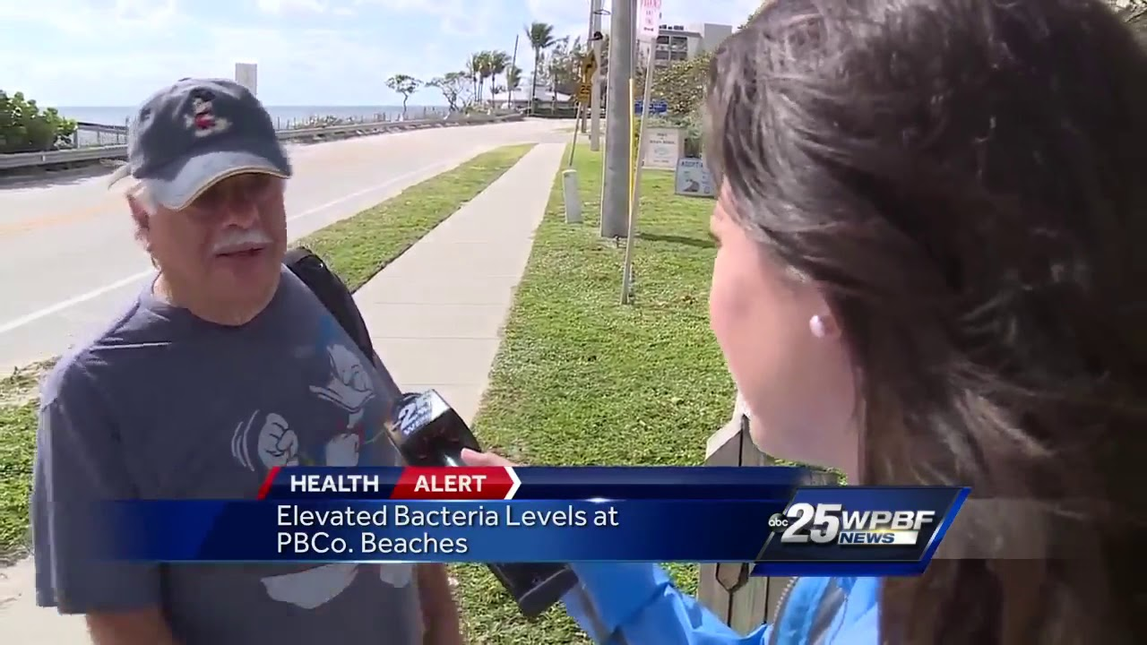 Elevated Bacteria Levels at Palm Beach County Beaches