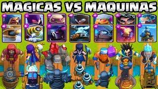 CARTAS MÁGICAS VS MAQUINAS | CUAL ES EL MEJOR? | RETO CLASH ROYALE |1vs1| Clash Royale Olympics