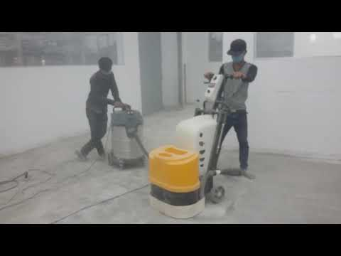 Grinding concrete to use floor epoxy